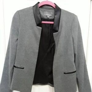 Tinley Road gray blazer, faux leather accent sz S